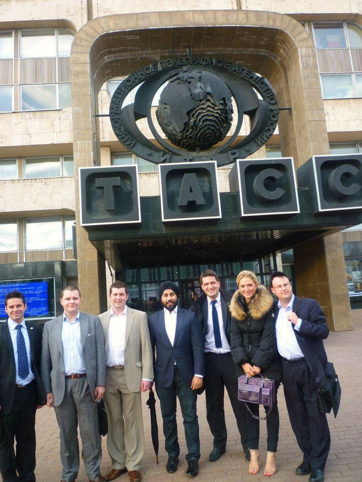 Jag and friends from Britain in front of ITAR-TAS
