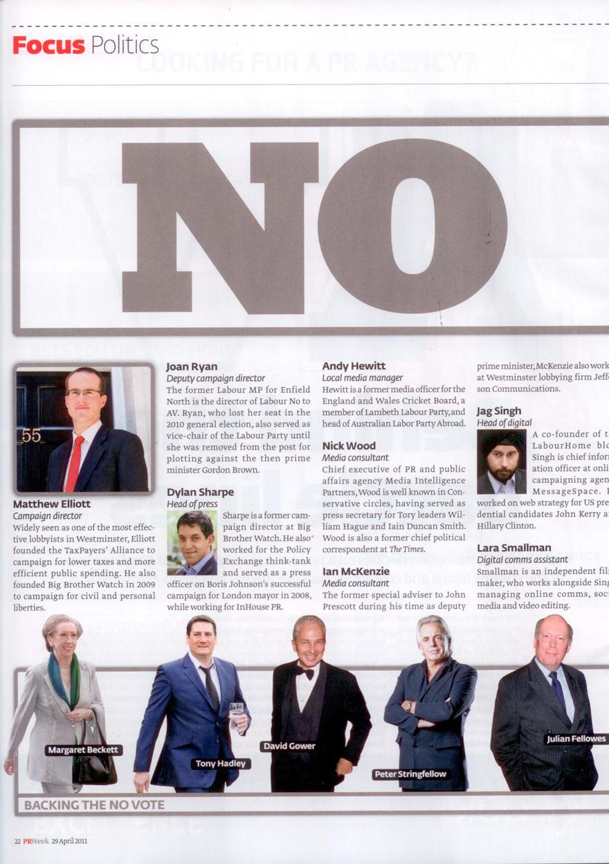 PR Week's Alternative Vote referendum campaign stars